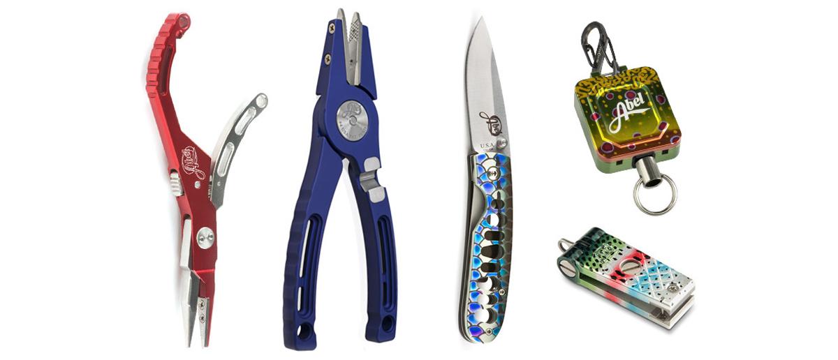 Abel Nipper, Clips, Zinger, Messer, Zubehör, Zangen und Hybrid Hemostats: Werkzeuge für Fliegenfischer in Sonderfarben im Fliegenfischen Onlineshop bei FFE.