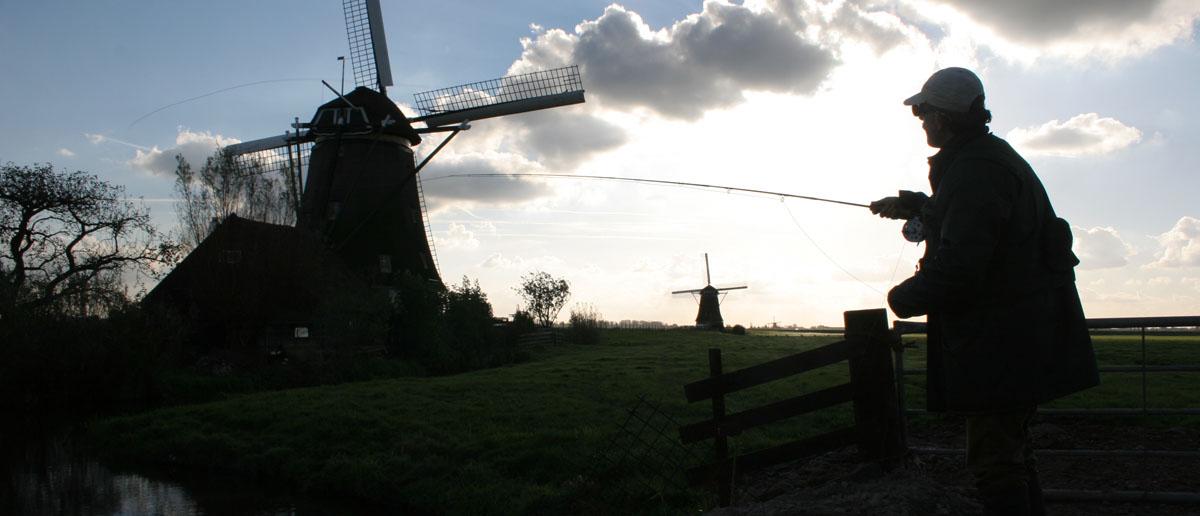 Fliegenrute auf Hecht an Hollands Poldern