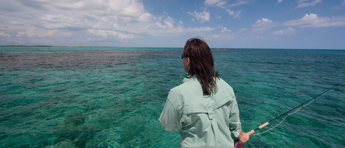 Mirjana Pavlic spottet einen Fisch Karibik