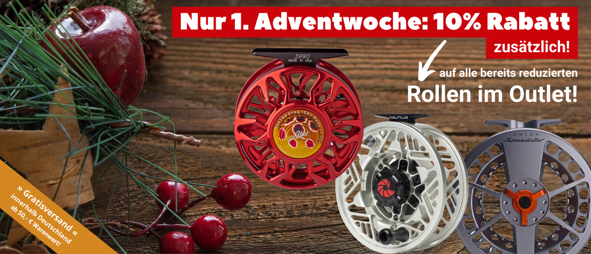 1. Advent -10% auf Outlet Fliegenrollen