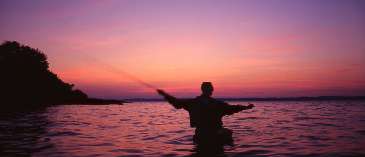 Der Schusskorb ist beim Fliegenfischen auf Meerforelle auesserst wichtig für einfaches Werfen
