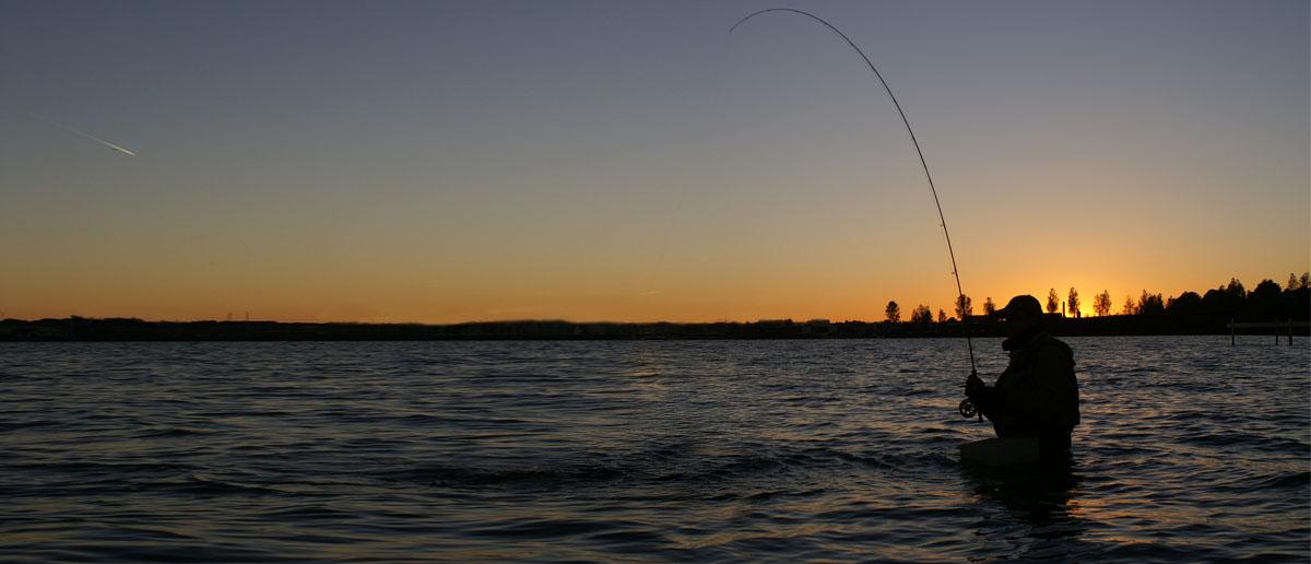 Beim Meerforellenfischen mit der Fliegenrute kaum verzichtbar - ein Schnurkorb. Flyfishing Europe