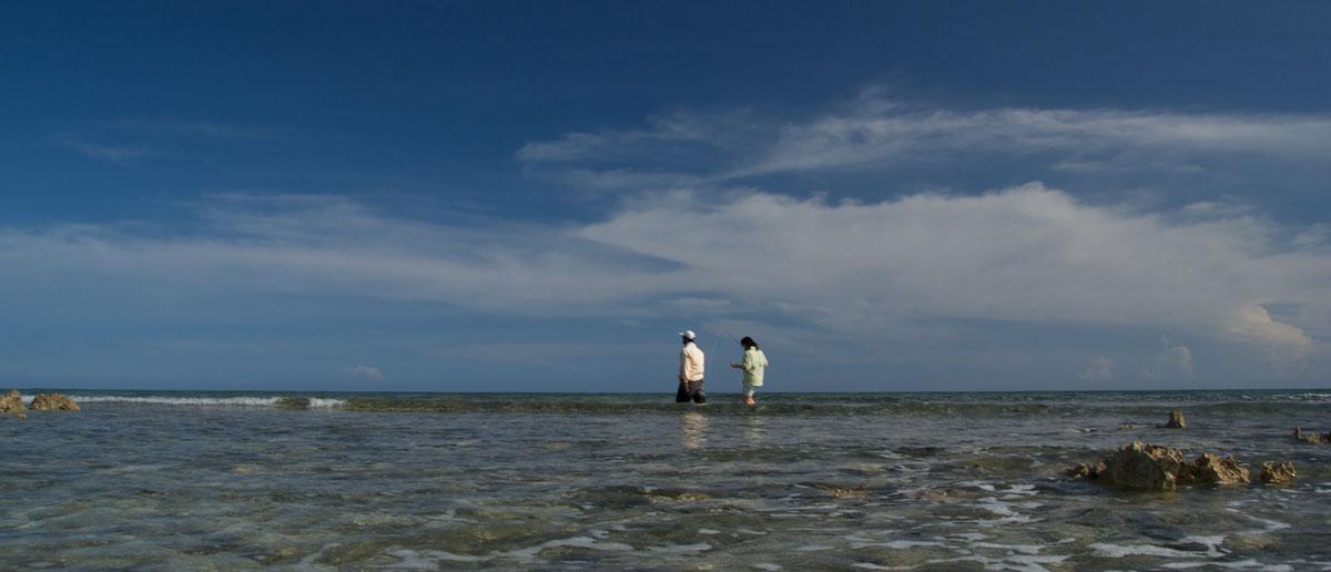 Watfischen mit Mirjana Pavlic an der Riffkante