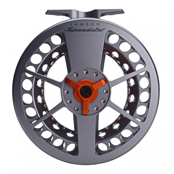Waterworks-Lamson Speedster HD Fliegenrolle grey/orange Rueckseite