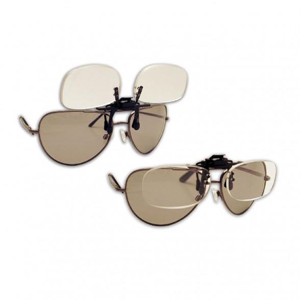 Flip N Focus Vergroeßerungsglas Brillenaufsatz Sichthilfe