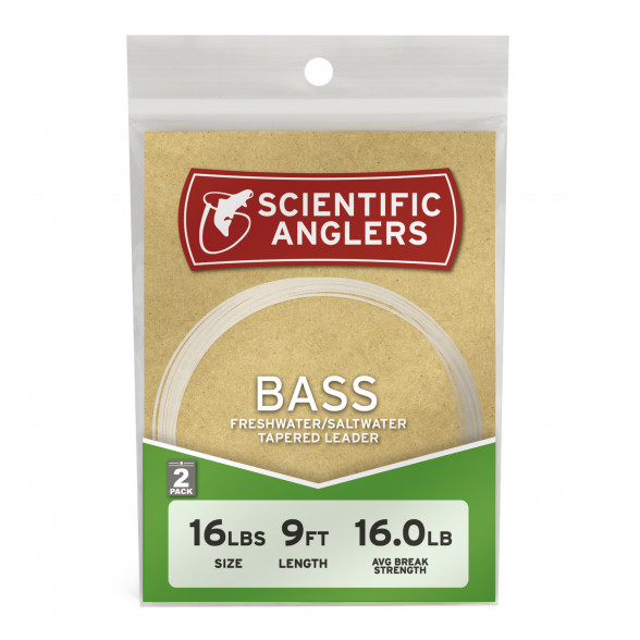 Scientific Anglers Bass Leader 9' 2er Set Vorfaecher