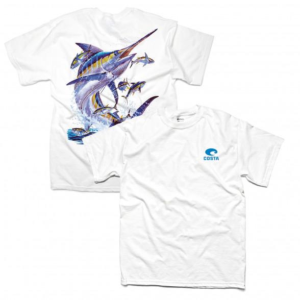 Costa T-Shirt Marlin weiß zum Fliegenfischen bei Flyfishing Europe