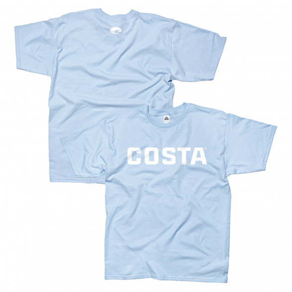 Costa T-Shirt Logo blau zum Fliegenfischen bei Flyfishing Europe