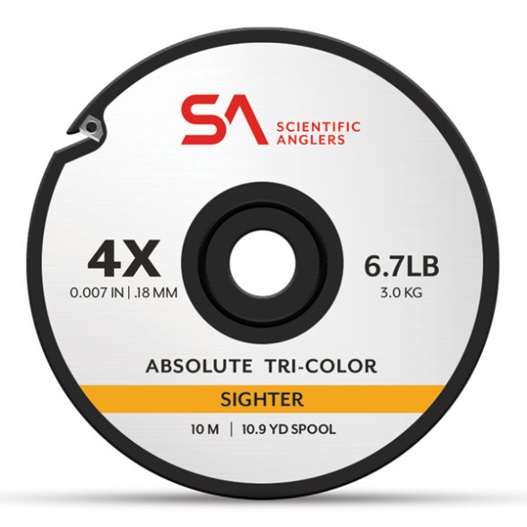 Absolute Tri-Color Sighter Tippet Bissanzeiger-Vorfachmaterial Scientific Anglers