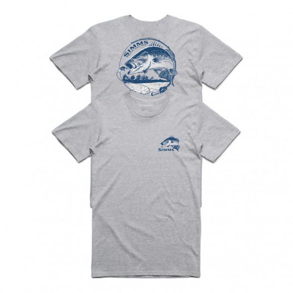 Simms Bass Bend T-Shirt grey heather