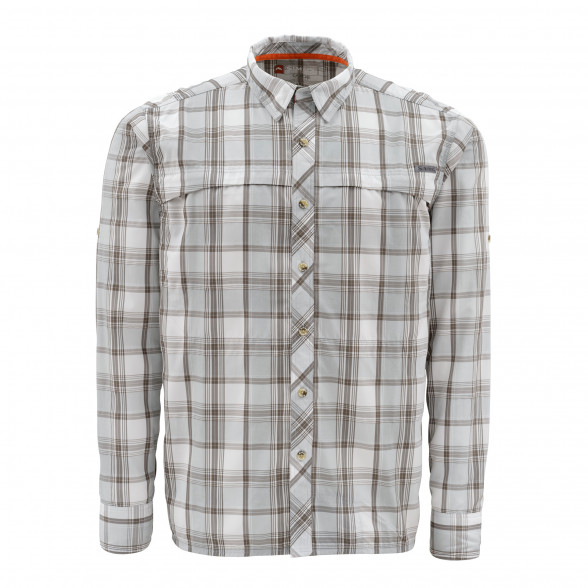 Simms Hemd Stone Cold LS Shirt Moonstone Plaid Fliegenfischerhemd bei Flyfishing Europe