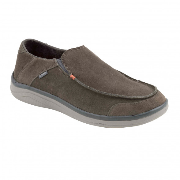 Simms Westshore Leather Slip On Schuh hickory