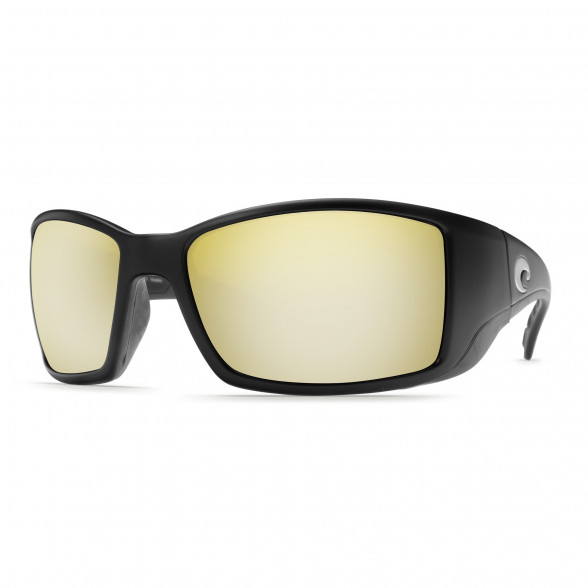 Costa Blackfin matte black 580P sunrise silver mirror