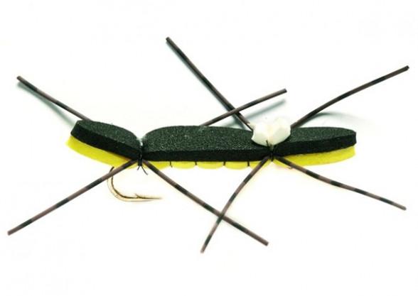 Chernobyl Ant schwarz Trockenfliege Ameise Foam Rubberlegs