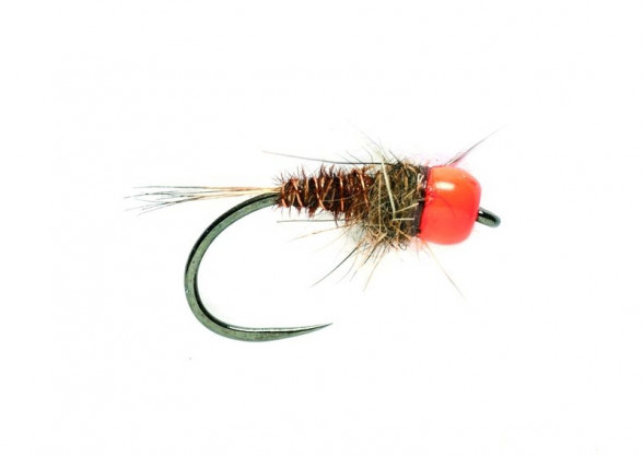 Barbless Tungsten SR Orange Head Mary Nymphe Beadheadnymphe