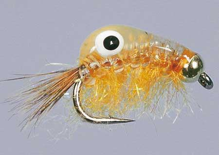 BH Big-Eye Scud Orange Size 8, Fliegen zum Fliegenfischen auf Karpfen bei Flyfishing Europe