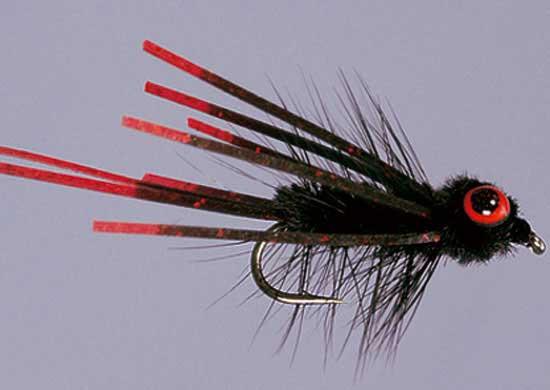 Carp-Tease Black Size 8, Fliegen zum Fliegenfischen auf Karpfen bei Flyfishing Europe