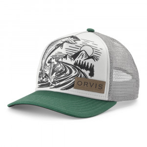 Orvis Trucker Cap Jumping Trout Kappe