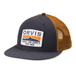 Orvis Trucker Cap Horizon Trout Flat Brim Kappe navy