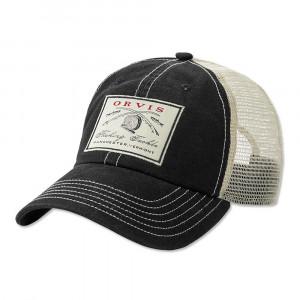 Orvis Vintage Crossed Rods Cap Kappe schwarz