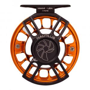 Nautilus X-Series Fliegenrolle XM schwarz orange Rueckseite