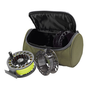Orvis Clearwater Cassette Fliegenrolle Set Tasche Ersatzspulen