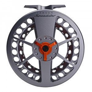 Waterworks-Lamson Speedster HD Fliegenrolle grey/orange Rueckseite