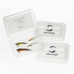 Salmologic Fliegenboxen Tubenfliegenbox und Hakenbox
