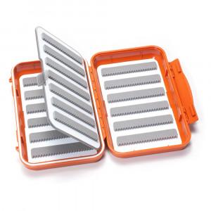 C&F Design wasserdichte Fliegendose Medium geschlitzt 19 Reihen und Flip Page burnt orange 25676