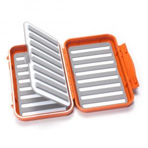 C&F Design wasserdichte Fliegendose Medium geschlitzt 32 Reihen und Flip Page burnt orange 2508F
