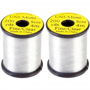 Uni Mono Bindegarn 200yds. Fine/clear  zum Fliegenfischen bei Flyfishing Europe