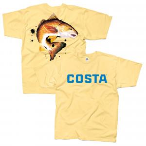 Costa T-Shirt Redfisch gelb zum Fliegenfischen bei Flyfishing Europe