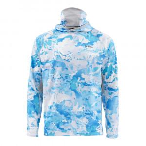 Simms Solarflex UltraCool Armor Shirt cloud camo blue