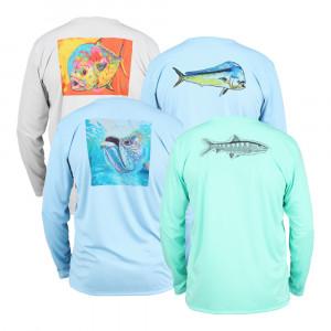 Simms Solar Tech Tee Shirt Ocean Collection