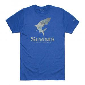 Simms Tarpon hex flo camo T-Shirt royal heather