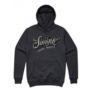 Simms Lager Script Hoody Kapuzenpullover charcoal heather