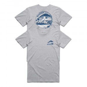 Simms Bass Bend T-Shirt grey heather
