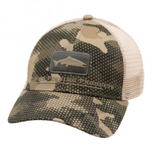 Simms Salmon Icon Trucker Cap Kappe hex flo camo timber