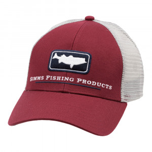 Simms Striper Icon Trucker Cap Kappe rusty red