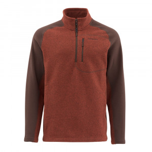 Simms Rivershed Sweater rusty red