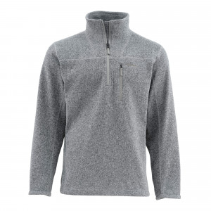 Simms Rivershed Sweater smoke, Layering bei Flyfishing Europe