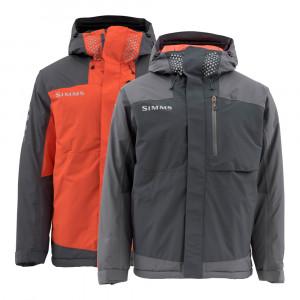 Simms Challenger Insulated Jacket Regenjacke gefuettert schwarz flame