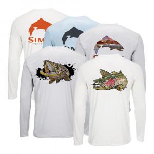 Simms Solar Tech Tee River Collection Sonnenschutzshirt