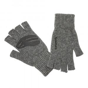 Simms Wool Half Finger Glove steel Handschuhe
