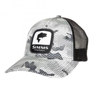 Simms Bass Patch Trucker Cap Kappe hex flo camo steel
