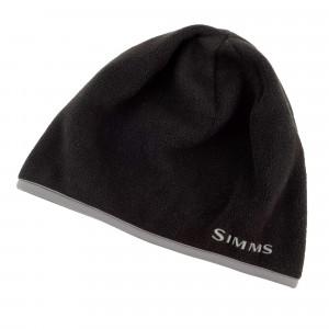 Simms Fleece Hat Cap black zum Fliegenfischen bei Flyfishing Europe