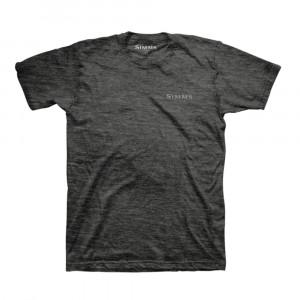 Simms T-Shirt Angler Driven charcoal heather