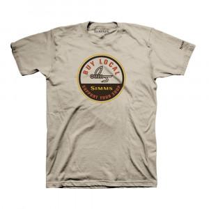 Simms T-Shirt Buy Local sand