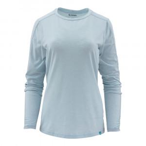 Simms Womens Bugstopper Tee Langarm Shirt blue chill