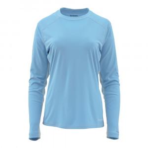 Simms Womens SolarFlex Crewneck Shirt faded denim